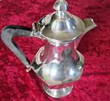Antique Meriden B Co Britannia Bachelors Tea Hot Water Chocolate Pot Silverplate