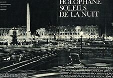 Coupure de Presse Clipping 1965 (3 pages) Holophane Soleils de la nuit