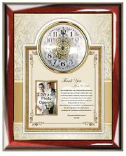 Parents Wedding Gift to Bride Daughter or Groom Son Personalized Clock Frame Mom