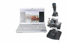 2000x Lab Microscope w USB Camera! 100x Oil! Movable Condenser! XY Stage! Slides
