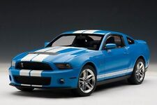 2010 Ford Mustang SHELBY GT500 Cobra Grabber Blue White Stripes 1:18 AUTOart