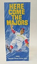 original and RARE 1969 Seattle Pilots HERE COME THE MAJORS Ticket Form.  mint