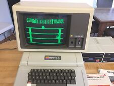 Vintage Apple II Plus Computer A2S1048, Monitor, Drives & Manuals - Nice, Works