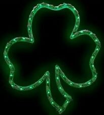 St Patricks Day Lighted Shamrock Window Decor - FREE SHIPPING