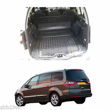 Ford Galaxy MK II 2007-15 heavy duty black anti slip rubber boot mat load liner