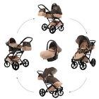 Knorr Baby Kombi-Kinderwagen Set Voletto Sahara mit Autositz 3312-3