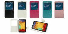 FLIP COVER  PER SAMSUNG GALAXY NOTE 3 N9005 N9000 N90002 IN PELLE