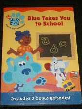 DVD Blue's Clue's Blue Takes You to School Nick Jr Two 2 Bonus Episodes