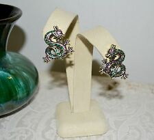 NEW BREATHTAKING HEIDI DAUS SUBLIME SERPENT CRYSTAL CLIP EARRINGS - NEW IN BOX!