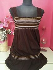 robe /tunique  *    t 38/40  **  couleur chocolat EXCELLENT ETAT