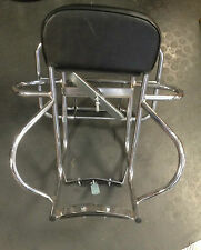 Rear / back carrier rack 3 way in chrome for Lambretta by Cuppini