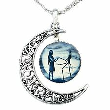 Jack Skellington Necklace Pendant Gift, Jack and Sally Nightmare Before Blue