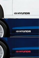 2 x HYUNDAI - FOR DOORS -  CAR DECAL STICKER ADHESIVE I10 I20 I30  - 300mm long