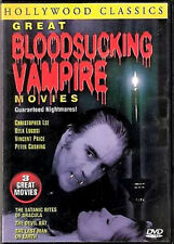 3 Great Bloodsucking Vampire Horror  Movies (Dracula) - Christopher Lee  3 DVD