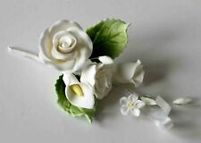 ROSE SPRAY WHITE, SMALL, Sugar Flowers, Cake Topper, Gum Paste Sugar Paste Cakes