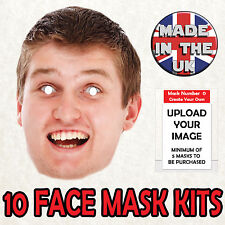 10 PERSONALISED FACE MASKS PHOTO BIRTHDAY PARTY STAG DO HEN NIGHT FUN DRESS!
