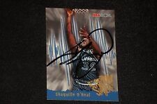 SHAQUILLE O'NEAL 1995-96 NBA HOOPS SIGNED AUTOGRAPHED CARD #366 MAGIC