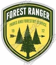 Forest Ranger National Park Forestry Service Car Bumper Vinyl Sticker Decal 4X5""