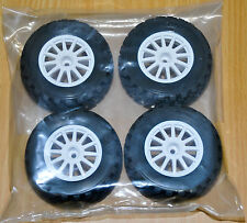 1/10 Rally 4WD  WHITE 12mm WHEELS & TIRES Traxxas 7407 TRA7473 (4) NEW