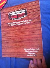 1969 Mercury Marquis Colony Park Montery and Montego Color Brochure Prospekt