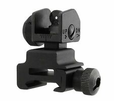 UTG MNT-951 Flip-up Rear Sight w/Windage Adj & Dual Aiming Apertures