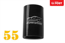 "4PLY Silicone Straight Coupler Turbo Hose Coupling ID = 55mm 2.16"" Black"