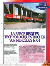 la Berce Rocher VEMA Mercedes 2624 6X4 engine Sapeur Pompier FICHE FIREFIGHTER