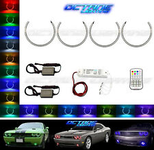 2008-14 Dodge Challenger Multi-Color Changing LED RGB Headlight Halo Ring Set