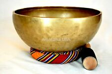 "Singing Bowl Hand Hammered Large 10"" hand hammered Tibetan meditation chakra"