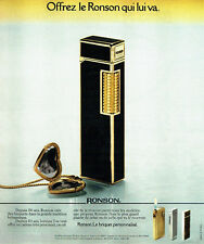 PUBLICITE ADVERTISING 036  1978  Ronson  briquet Banker