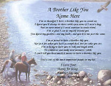 A BROTHER LIKE YOU PERSONALIZED POEM MEMORY BIRTHDAY GIFT