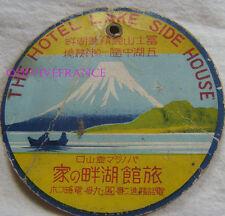 ETIQUETTE DE BAGAGE HOTEL LAKE SIDE HOUSE - JAPON