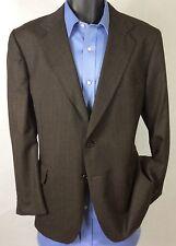 Mens Brown Striped GARRISON PARK Suit Jacket   Wool 2 Button Sport Coat 42S