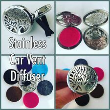 LARGE STAINLESS STEEL FAMILY TREE ESSENTIAL OIL CAR DIFFUSER AROMATHERAPY OILS