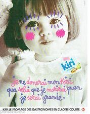 PUBLICITE ADVERTISING 115  1984  le fromage enfants KIRI à la crème