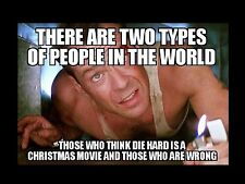 "Die Hard Christmas Movie Meme 2""x3"" Flexible Fridge Magnet"