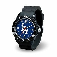 Los Angeles Dodgers MLB Baseball Team Men's Black Sparo Spirit Watch