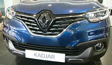 Renault Kadjar 2015+ GLOSS BLACK FRONT&REAR BADGE EMBLEM COVER MANY COLOURS