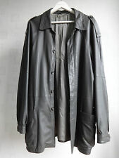 Harrods Vintage Soft Napa Leather Jacket Yanko Size 54 Harrington Blazer Style