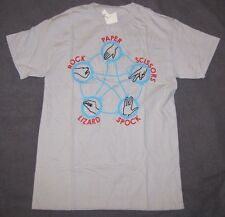 LARGE T-SHIRT THE BIG BANG THEORY ROCK PAPER SCISSORS LIZARD SPOCK GRAPHIC LG!!!