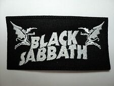 BLACK SABBATH  WHITE EMBROIDERED  PATCH