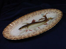 "VICTORIA CARLSBAD AUSTRIA HAND PAINTED FISH 24"" SERVING PLATTER"