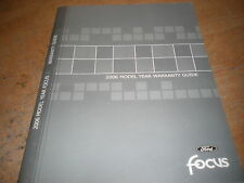 2006 FORD FOCUS WARRANTY GUIDE OWNERS MANUAL SUPPLEMENT BOOKLET ORIGINAL FORD