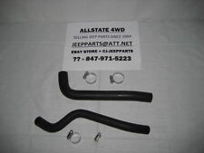 JEEP PARTS CJ GAS TANK FUEL FILLER & VENT HOSES WITH CLAMPS, 1978-1986 CJ5 CJ7