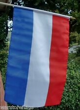 "NETHERLANDS LARGE HAND WAVING FLAG 18"" X 12"" WITH 24"" POLE Holland Amsterdam"