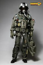 VERY HOT U.S. NAVY VFA-41 Black Aces Pilot Set 1/6 IN STOCK