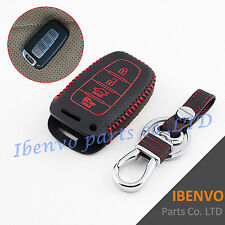 4 Buttons Leather Key Chain Case Clasp For Hyundai Sonata Equus Elantra Veloster