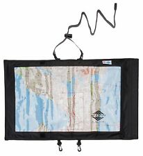 Aqua Quest Trail Map Case - 100% Waterproof Map & Document Holder Dry Bag Black