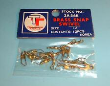 120 Brass Snap Swivels Tennessee Tackle Size 12 - 10 Packs of 12 . . .