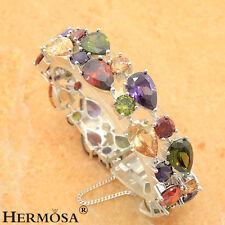 75% OFF Hermosa 925 Sterling Silver Peridot Amethyst Garnet Topaz Bracelet 8''